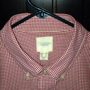 Classic red/white gingham long sleeve button down